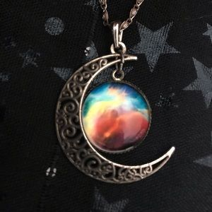Crescent moon necklace 🌜💫